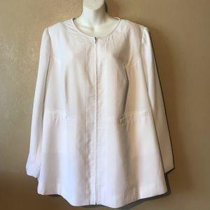 Jessica London white jacket size 20